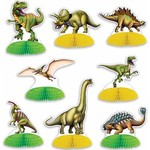 "Beistle Co. MINI CENTRE DE TABLE 4""-6"" (8) - SAFARI / DINOSAURES"