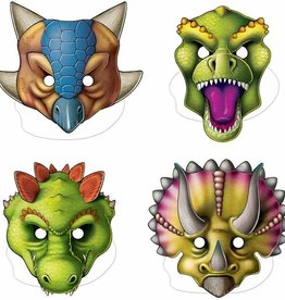 Beistle Co. MASQUES (4) - SAFARI / DINOSAURES