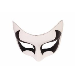 Forum Novelty MASK-PEARL WHITE W/BLACK EYES