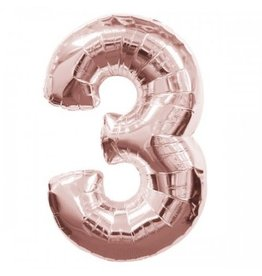 "Anagram BALLON MYLAR 16"" - 3 ROSE GOLD"