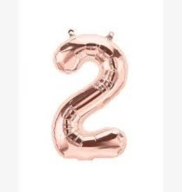 "Anagram BALLON MYLAR 16"" - 2 ROSE GOLD"