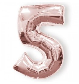 "Anagram BALLON MYLAR 16"" - 5 ROSE GOLD"