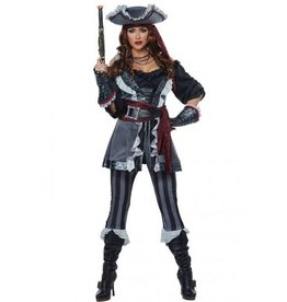 California Costumes COSTUME ADULTE - CAPITAINE BLACKHEART PLATINUM COLLECTION
