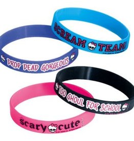 Amscan BRACELETS SILICONE (6) - MONSTER HIGH