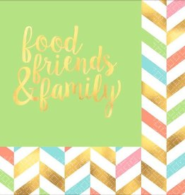 Amscan SERVIETTES DE TABLE (16) - FOOD FRIENDS AND FAMILY