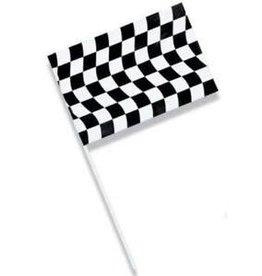"Creative Converting Black & White Check Flag, Plastic Jumbo 23"" x 36"