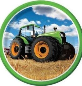 "Creative Converting Tractor Time 9"" Dinner Plate"