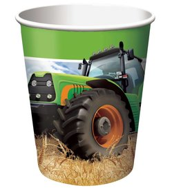 Creative Converting Tractor Time 9 oz Hot/Cold Cups