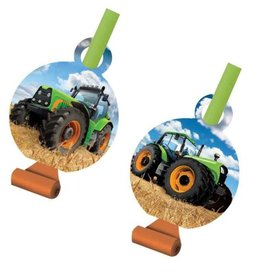 Creative Converting Tractor Time Blowouts, w/ Medallion
