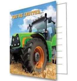 Creative Converting Tractor Time Invitation