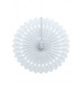 "Unique DECORATIVE FAN 16"" WHITE"