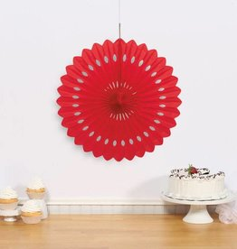 "Unique DECORATIVE FAN 16"" RED"