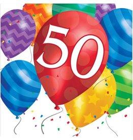 Creative Converting SERVIETTES DE TABLE - BALLONS 50 ANS  (16)