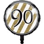 Creative Converting BALLON MYLAR 18PO - NOIR & OR 90ANS