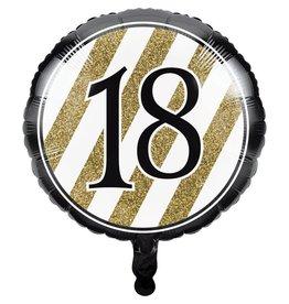 Creative Converting BALLON MYLAR 18PO - NOIR & OR 18ANS
