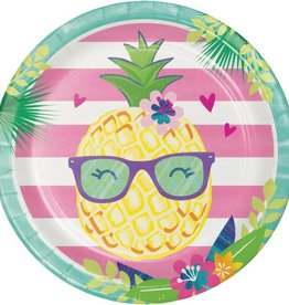 Creative Converting ASSIETTES 9PO (8) - ANANAS & AMIS