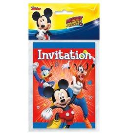 Unique INVITATIONS (8) - MICKEY MOUSE