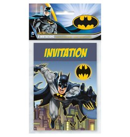 Unique INVITATIONS (8) - BATMAN