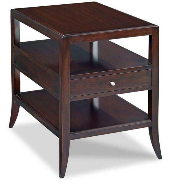 Addison Side Table 19.5W27D26H Mahogangy Veneer