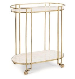 Clubroom Bar Cart 17.25L32.5W34.5H