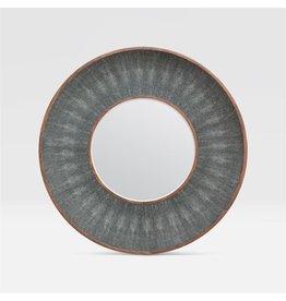 Armond Cool Grey/Walnut Veneer Mirror 38''