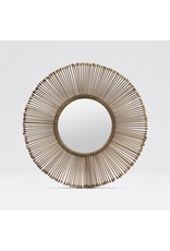Dawn Antiqued Brass Iron Mirror 32''