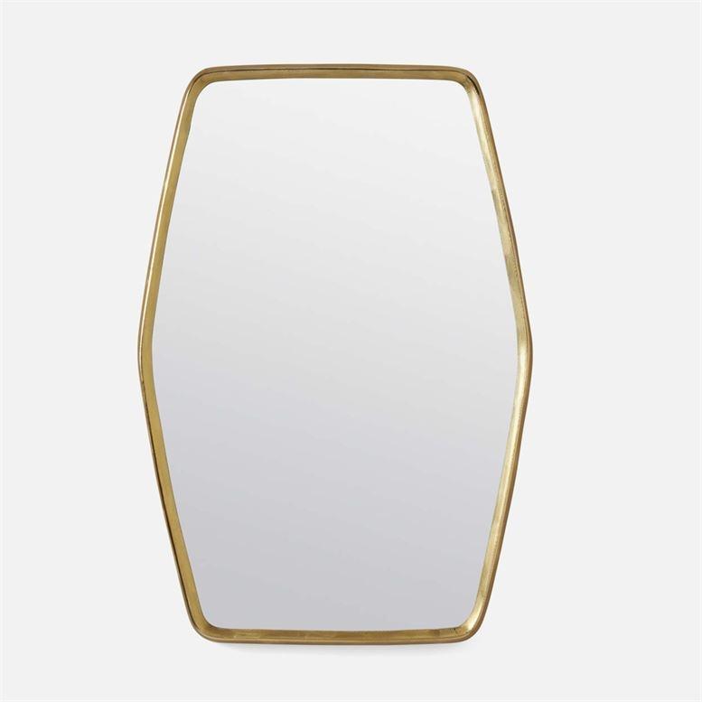 Fenris Shiny Brass Etched Aluminium 26''L x 38''H