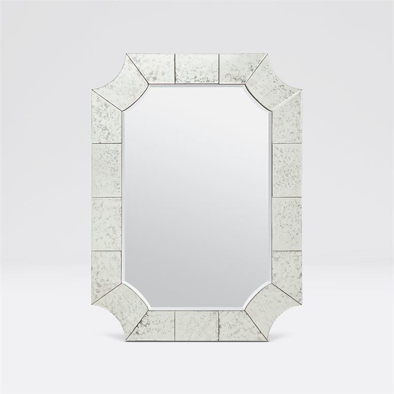 Gisbert Light Antiqued Mirror 28''W x 38''H