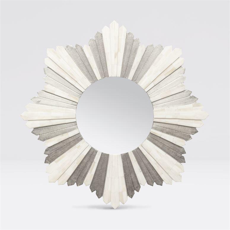 Marlow Silver/Bone Mirror 34''