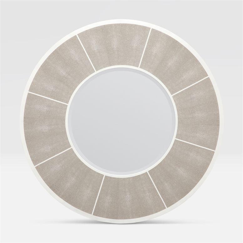 Meredith Sand Faux Shagreen Mirror 38''