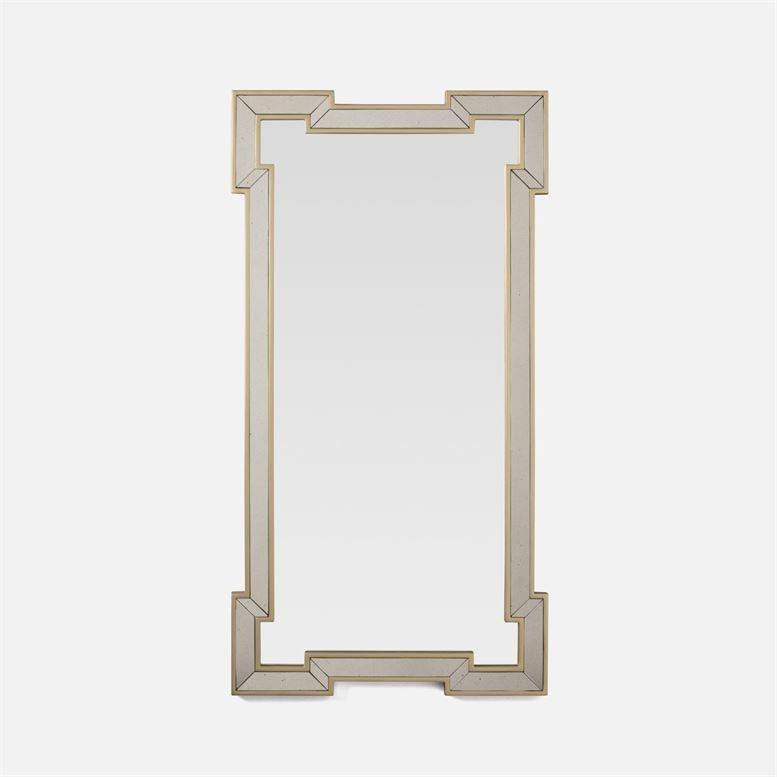 Norma Antiqued Silver Mirror 22''W x 42''H