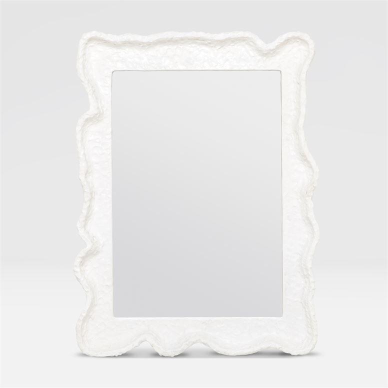 Nora Textured White Mirror 30''W x 40''H