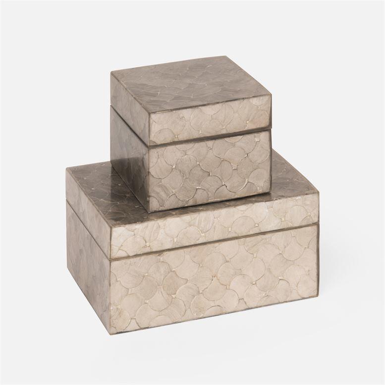 "Cyrus Gray Shadow Capiz Box Set 7""L x 5""W x 4""H"