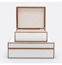 """Jeston Snow Burnt Wood Box Set 12""""L x 10""""W x 5""""H"""