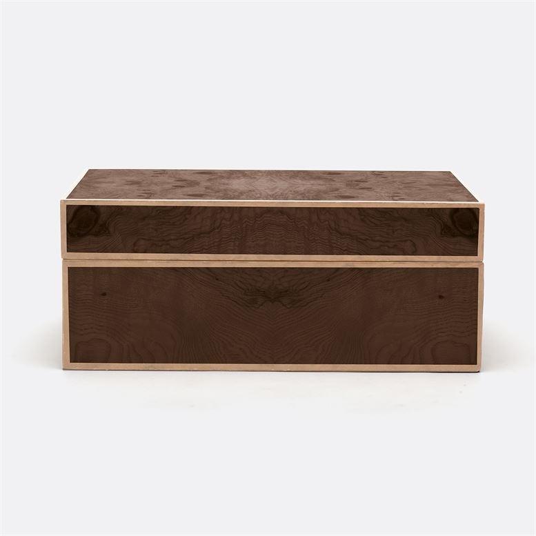 """Shea Walnut Veneer Box 18""""L x 10""""W x 8""""H"""
