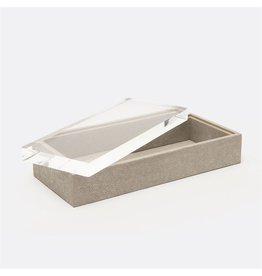 "Jasen Sand Faux Shagreen Box 11""L x 5""W x 3""H"