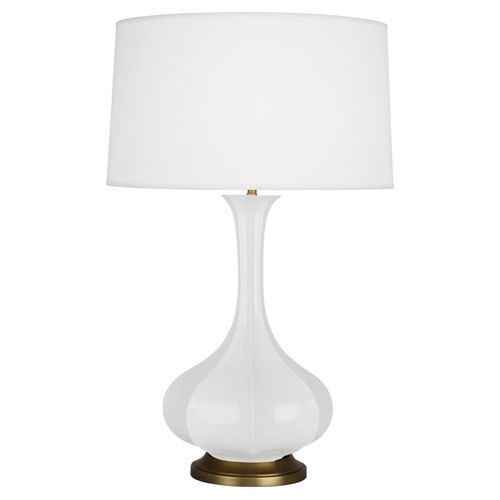 Pike Table Lamp - White 32H/19W