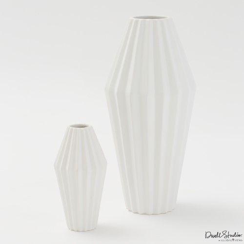 Milos Vase-Matte White-Sm
