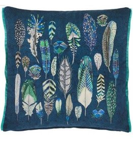 "QUILL COBALT PILLOW 20""X20"""