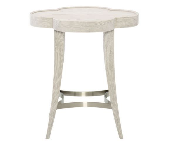 Domaine Blanc Chairside Table 24DIA 26H