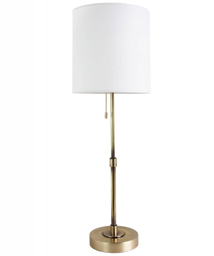 "Annapolis Tall Table Lamp - Antique Brass 25"" h x 8""w"
