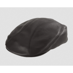 Henschel Cowhide Leather Driving Cap