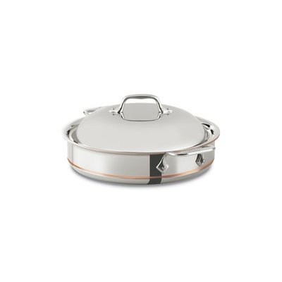 All-Clad All-Clad 3-Qt Copper Core Sauteuse with Lid