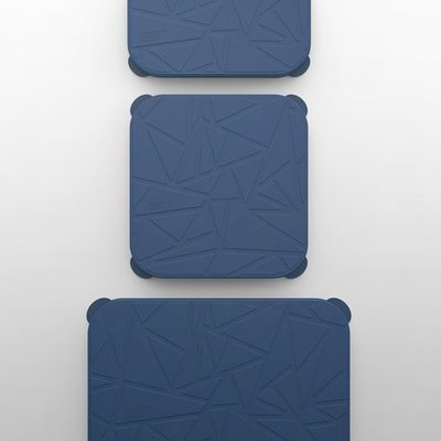 GIR Get It Right GIR Rectangular Stretch Lid 3-Piece Set: Navy