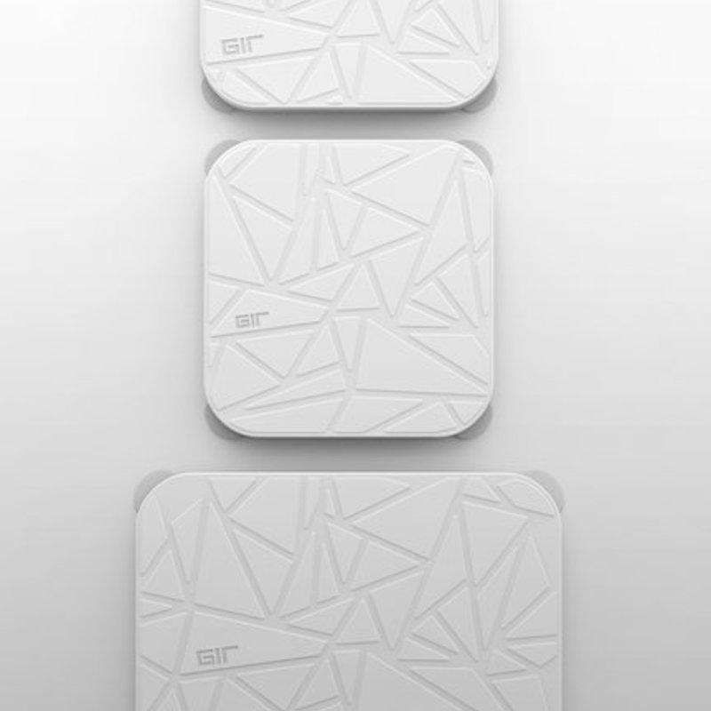 GIR Get It Right GIR Rectangular Stretch Lid 3-Piece Set: Studio White