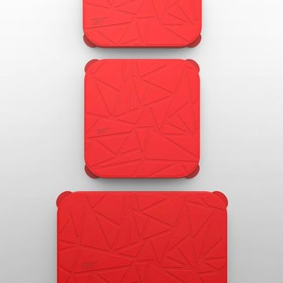 GIR Get It Right GIR Rectangular Stretch Lid 3-Piece Set: Red