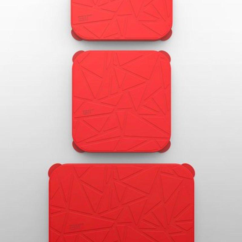 GIR Get It Right GIR Rectangular Stretch Lid 3-Piece Set: Red