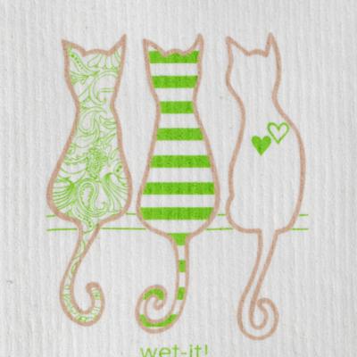 WetIt! Swedish Treasures Swedish Dish Cloth Cat Lover