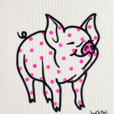 WetIt! Swedish Treasures Swedish Dish Cloth Polka Pig