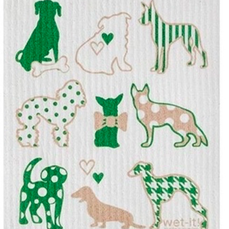 WetIt! Swedish Treasures Swedish Dish Cloth Dog Lovers